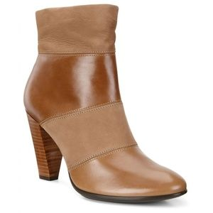 NWT ECCO Shape 75 Camel Brown Suede Ankle Boots